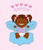 Baptism angel design Royalty Free Stock Photo