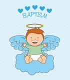 Baptism angel design Royalty Free Stock Images
