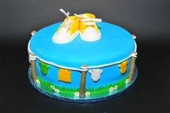 Baptism celebration cake Royalty Free Stock Photos