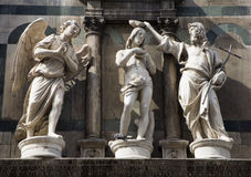 baptism of christ - statue from Florence Stock Photo