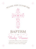 Baptism, Christening, Communion, or Confirmation Invitation Template - Vector. Baptism, Christening, First Holy Communion, or Confirmation Invitation Template Stock Images