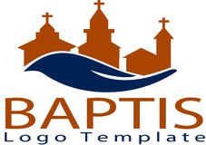 Baptis church and logo template royalty free illustration