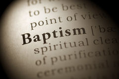 Baptism. Fake Dictionary, Dictionary definition of the word Baptism. including key descriptive words stock photography