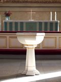 Baptism Font. Baptismal Font in the Helsinki Cathedral stock photo