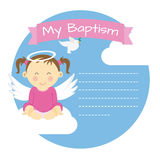 Baptism girl Stock Photo
