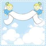 Baptism greeting card vector illustration