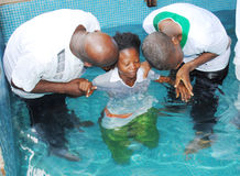 BAPTISM BY IMMERSION Royalty Free Stock Photo