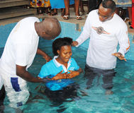 BAPTISM BY IMMERSION Royalty Free Stock Photography