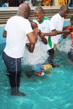 BAPTISM BY IMMERSION Royalty Free Stock Photos