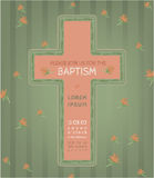 Baptism invitation card Royalty Free Stock Images