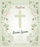 Baptism invitation card Stock Photos