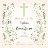 Baptism invitation card Royalty Free Stock Image