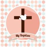 Baptism invitation design Royalty Free Stock Images