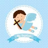 Baptism invitation design Stock Image