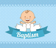Baptism invitation design Royalty Free Stock Photos