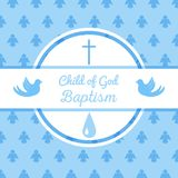 Baptism invitation template. Baptism invitation card template. Stock vector illustration for baby christening ceremony, communion or confirmation Stock Photos