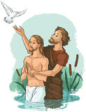 Baptism of Jesus Christ Royalty Free Stock Photos