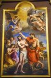 Baptism Jesus Painting Saint Louis En L'ile Church Paris France Royalty Free Stock Photo