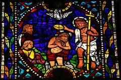 Baptism of Jesus by Saint John Stock Photos