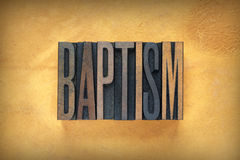 Baptism Letterpress Stock Image
