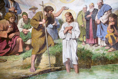 Baptism Of Jesus From Vienna Church Royalty Free Stock Photography