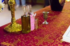 Baptism oil royalty free stock images
