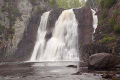 Baptism River High Falls. A waterfall on Baptism River in Minnesota Stock Photo