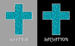 Baptism Salvation Cross Holy Water Pool Illustration Stock Images