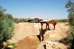 The Baptism Site. (Arabic: el-Maghtas) on the Jordan side of the Jordan River is one of the most important recent discoveries in biblical archaeology Royalty Free Stock Photography