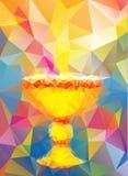 Baptism symbol in triangular style Stock Photos