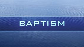 Baptism water banner stock video footage