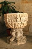 Baptismal font in Leca do Balio monastery Royalty Free Stock Images