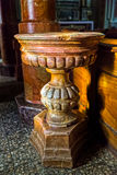 Baptismal font of the Saint Margherita Church Stock Photo