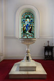 Baptismal font at Saint Mark's Cathedral in Bangalore. Royalty Free Stock Images