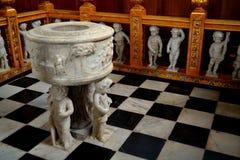 Baptismal font Royalty Free Stock Image