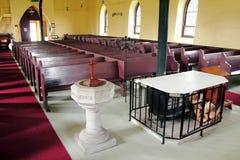 Baptismal in a Historic Christian Church Stock Photos