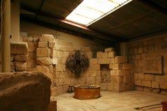Baptismal Schrifttyp an der Montierung Nebo, Jordanien Stockfotos