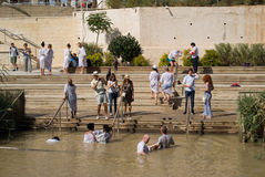 Baptismal Site on the Jordan River, Qasr al-Yahud, Israel Stock Image