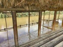 Baptismal yahud al Qasr места в реке Иордан стоковая фотография