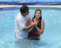 Baptismo da água fotografia de stock