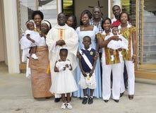 BAPTISMO DO BEBÊ Fotografia de Stock Royalty Free