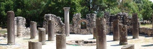 Baptistère bizantin, Butrint, Albanie Image libre de droits