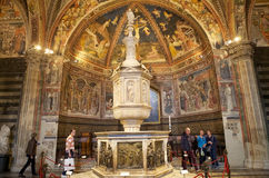 Baptistère de San Giovanni, Sienne, Toscane, Italie image stock