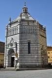 Baptistère Pistoie, Toscane - Italie Photographie stock libre de droits