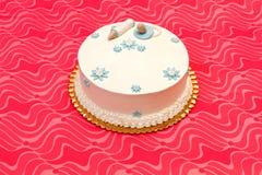 Baptist biały tort fotografia royalty free