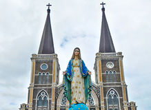 The Baptist Catholic Church is officially designated as one of the painted churches in Thailand. Stock Photography