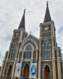 Baptist Catholic Church wird offiziell als eine der gemalten Kirchen in Thailand gekennzeichnet lizenzfreies stockfoto