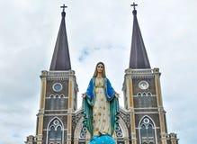 Baptist Catholic Church wird offiziell als eine der gemalten Kirchen in Thailand gekennzeichnet stockfotografie