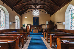 Baptist Church. The interior of the Baptist Church in Scotland Stock Photo