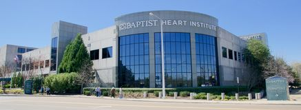Baptist Hospital Heart Institute Wide vinkel, Memphis Tennessee arkivfoto